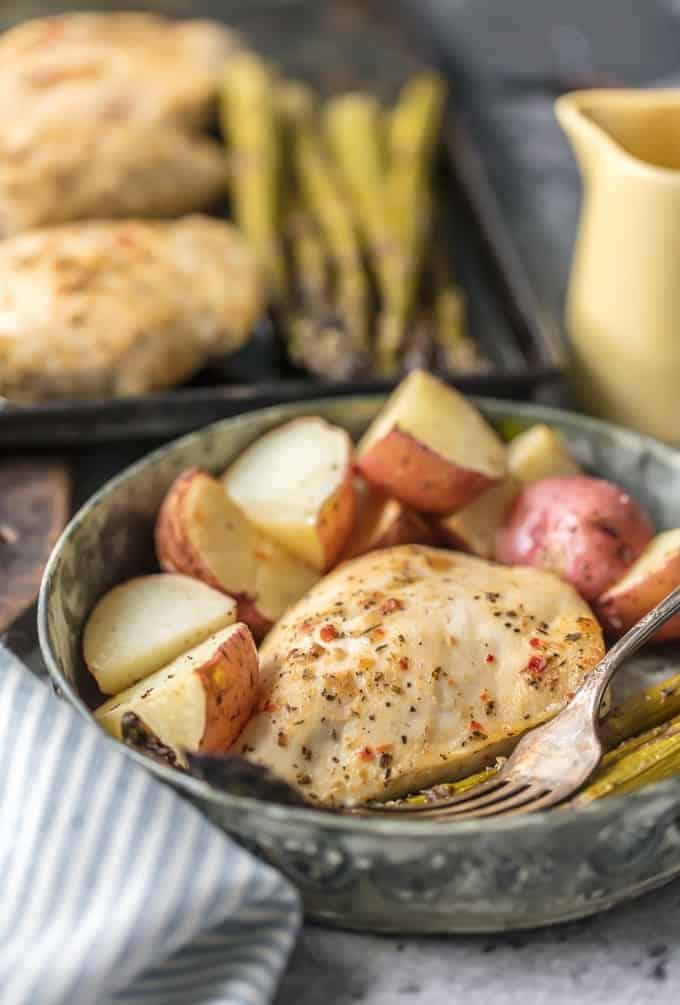 one pan honey garlic chicken and veggies side picture