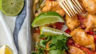 Baked Chicken Fajitas (Healthy Sheet Pan Fajitas Recipe)