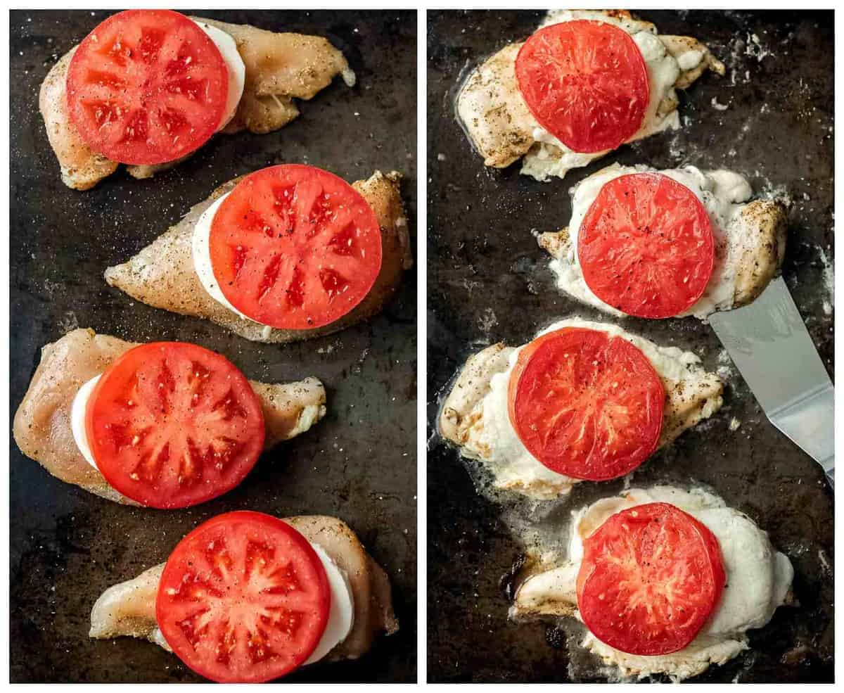 caprese chicken step by step