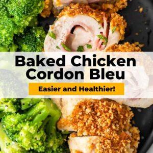 baked chicken cordon bleu pinterest
