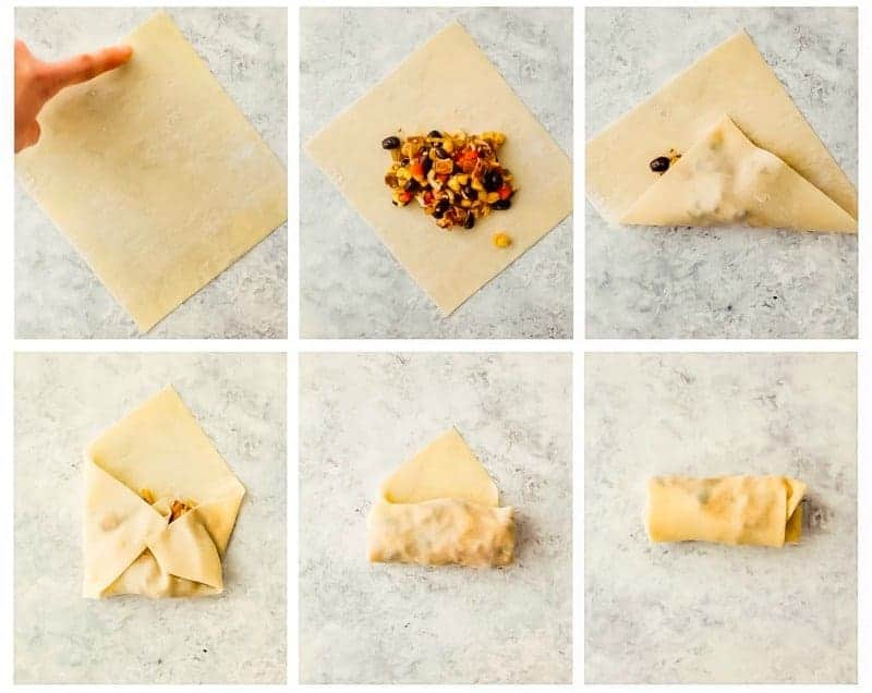 How to roll Chicken Egg Rolls