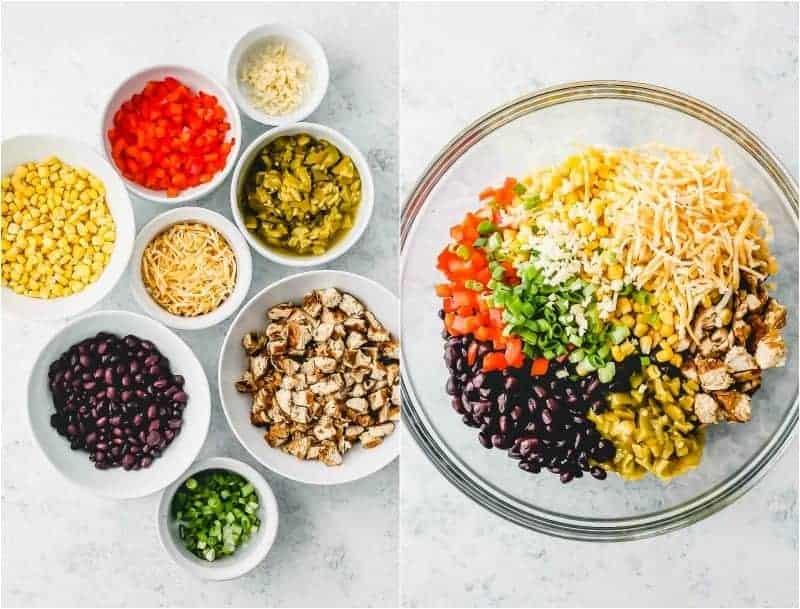 Ingredients for Baked Southwest Chicken Egg Rolls