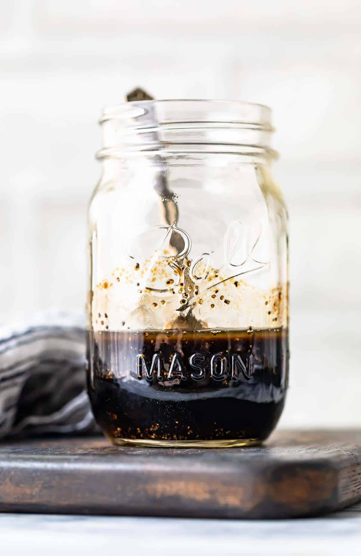 Balsamic Marinade for chicken in a jar