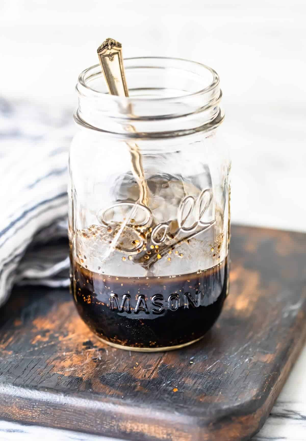 Balsamic Chicken Marinade in a jar