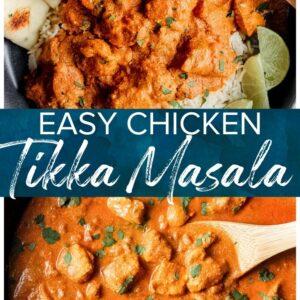 chicken tikka masala pinterest collage