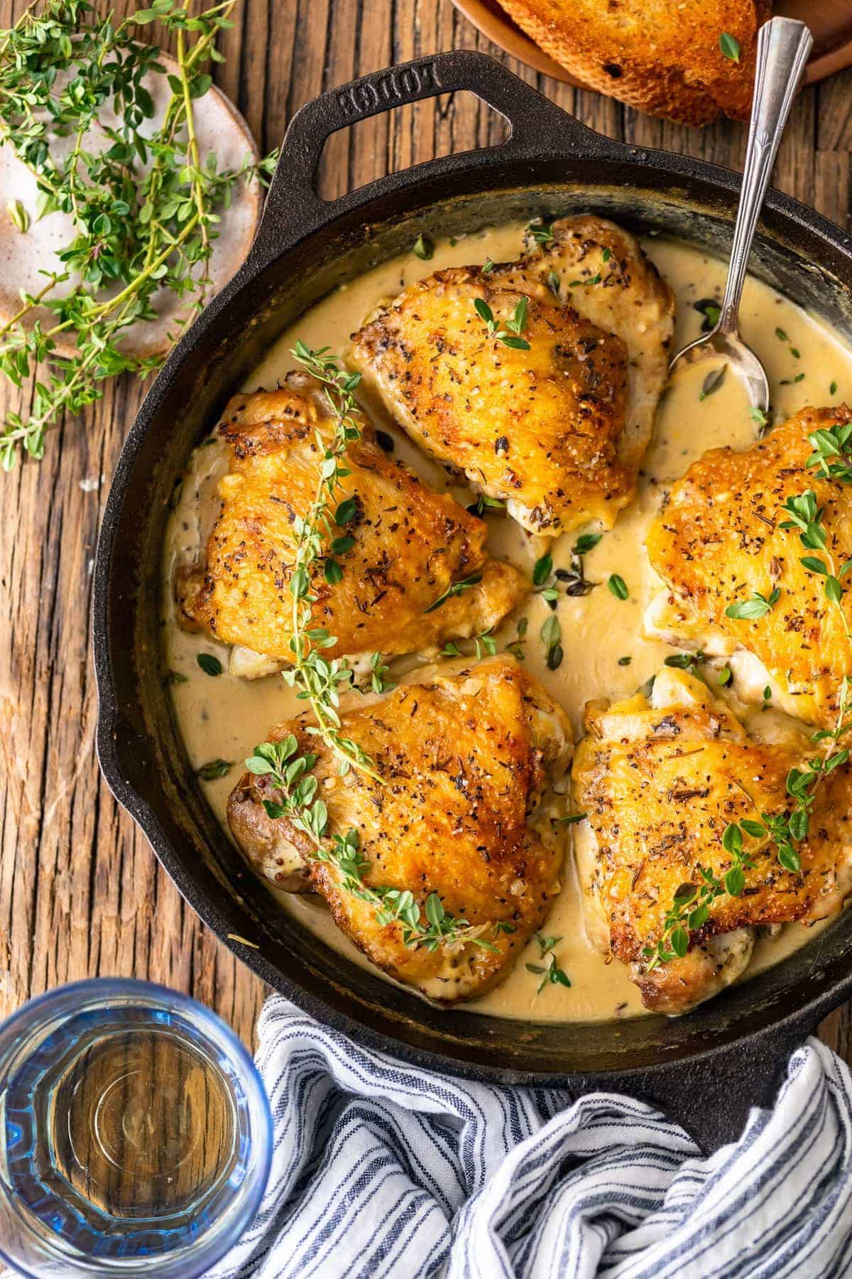 Creamy Chicken in White Wine Sauce