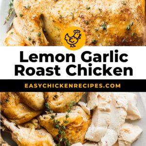 lemon garlic roast chicken pinterest