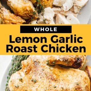lemon garlic roast chicken pinterest
