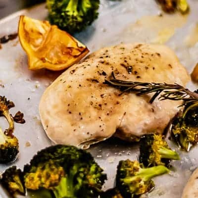 Sheet Pan Lemon Chicken with Broccoli is the perfect meal to bring you back to basics. There's nothing better than a simple sheet pan chicken dinner, and this Lemon and Broccoli Chicken Recipe is the ultimate week night meal!