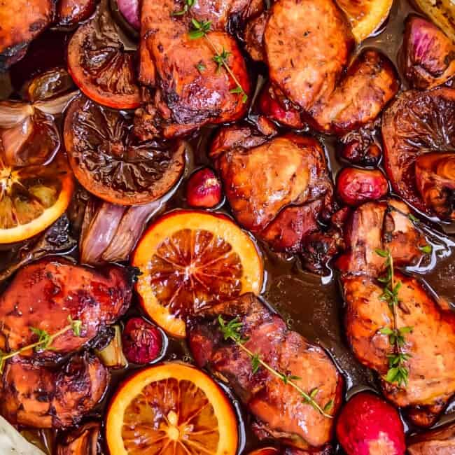 Balsamic Glazed Chicken is a tasty, easy, and simple sheet pan chicken recipe sure to please the entire family. This Balsamic Chicken Recipe is so juicy, tender, and unique. Love!