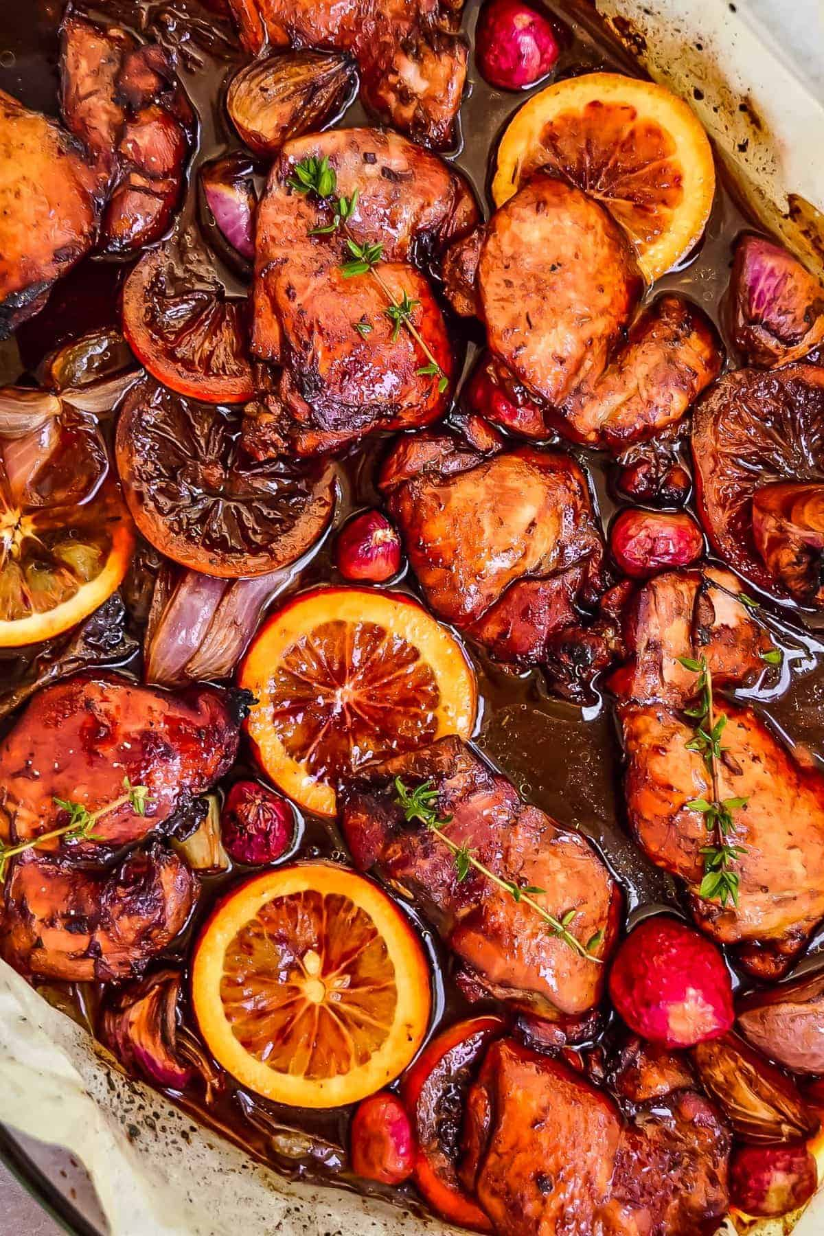 Honey Balsamic Glazed Chicken Balsamic Chicken Thighs Video