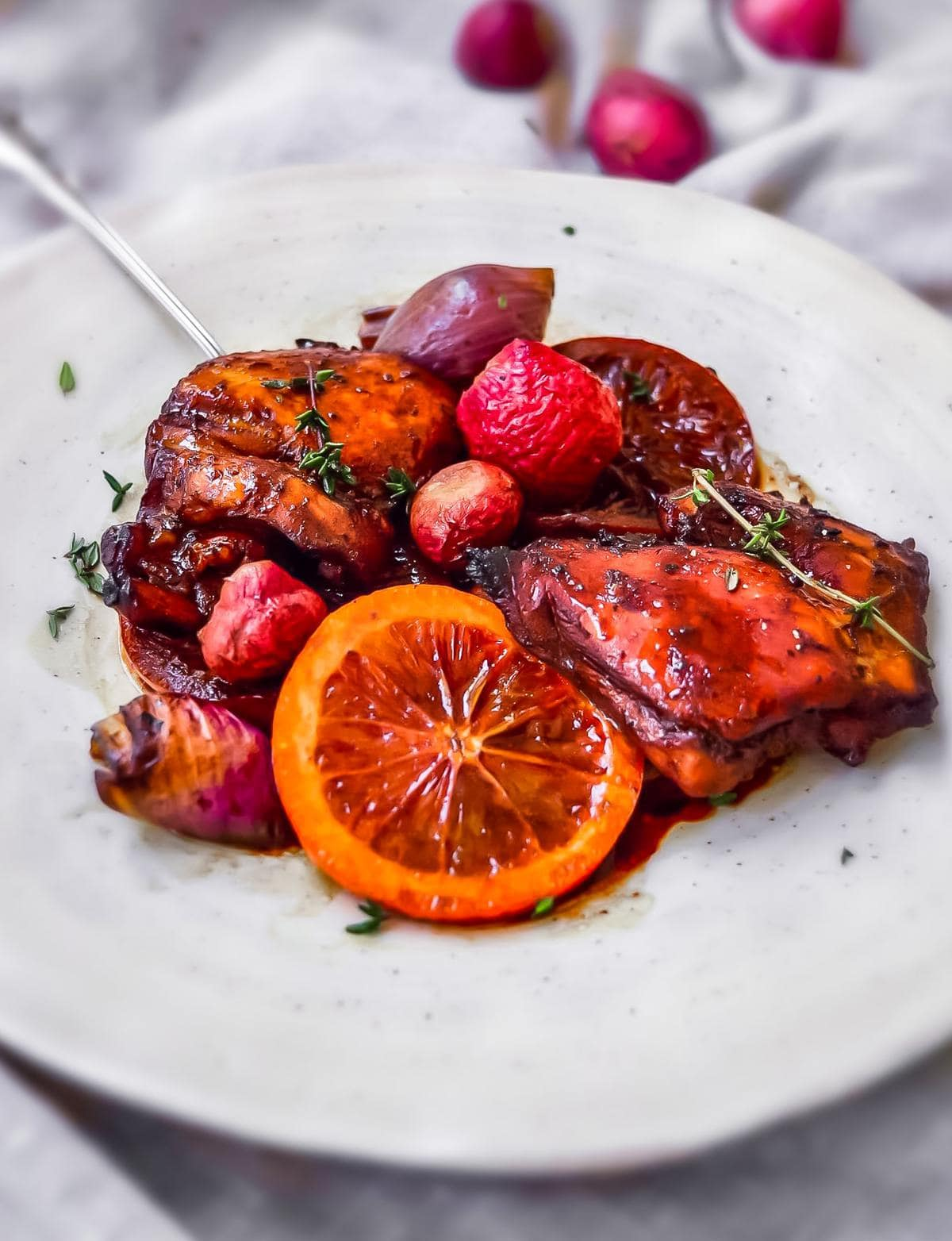 Balsamic Glazed Chicken with blood orange