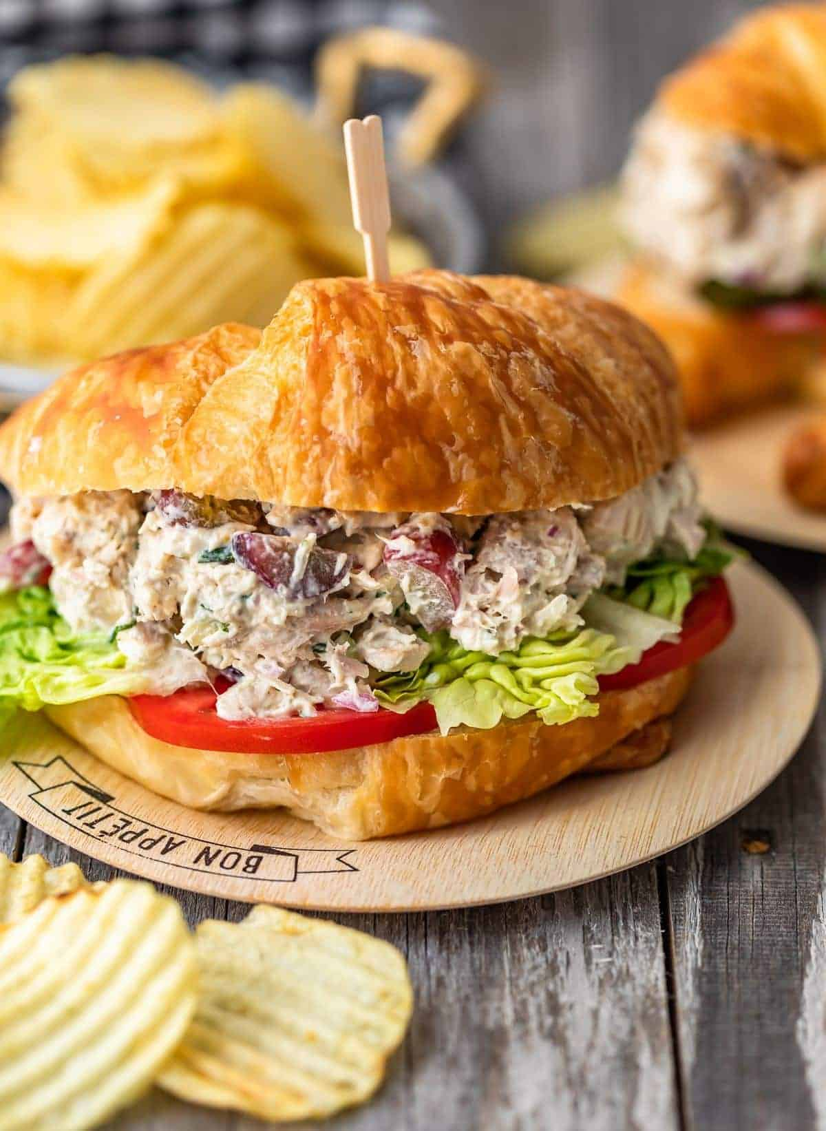 Up Close Classic Chicken Salad Sandwich