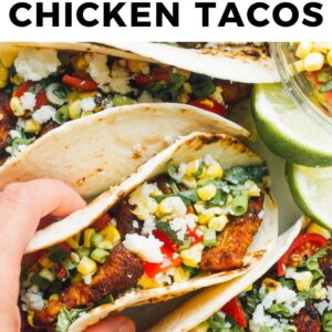 cilantro lime chicken tacos pinterest collage