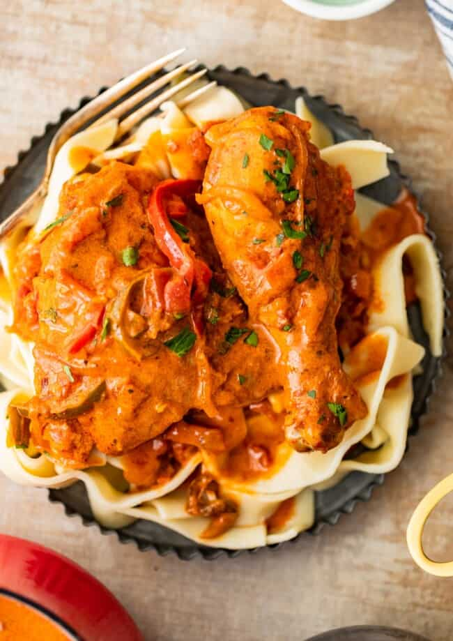 Creamy Chicken Paprikash is a traditional Hungarian Chicken Recipe with so much flavor! This Chicken Paprikash Recipe is unique, vibrant, and delicious.