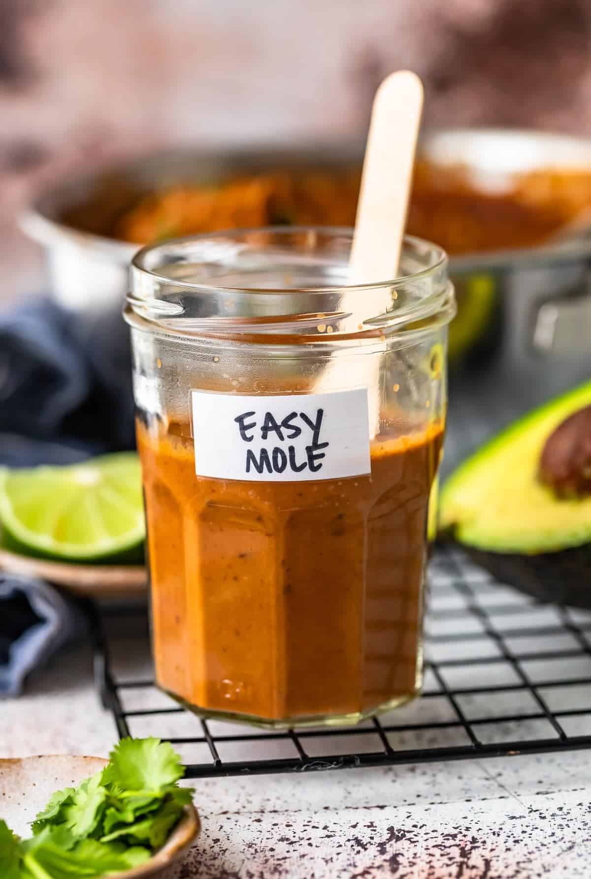 easy mole sauce for chicken in a jar