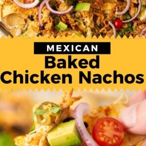 sheet pan chicken nachos pinterest collage