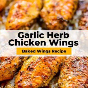 garlic herb chicken wings pinterest