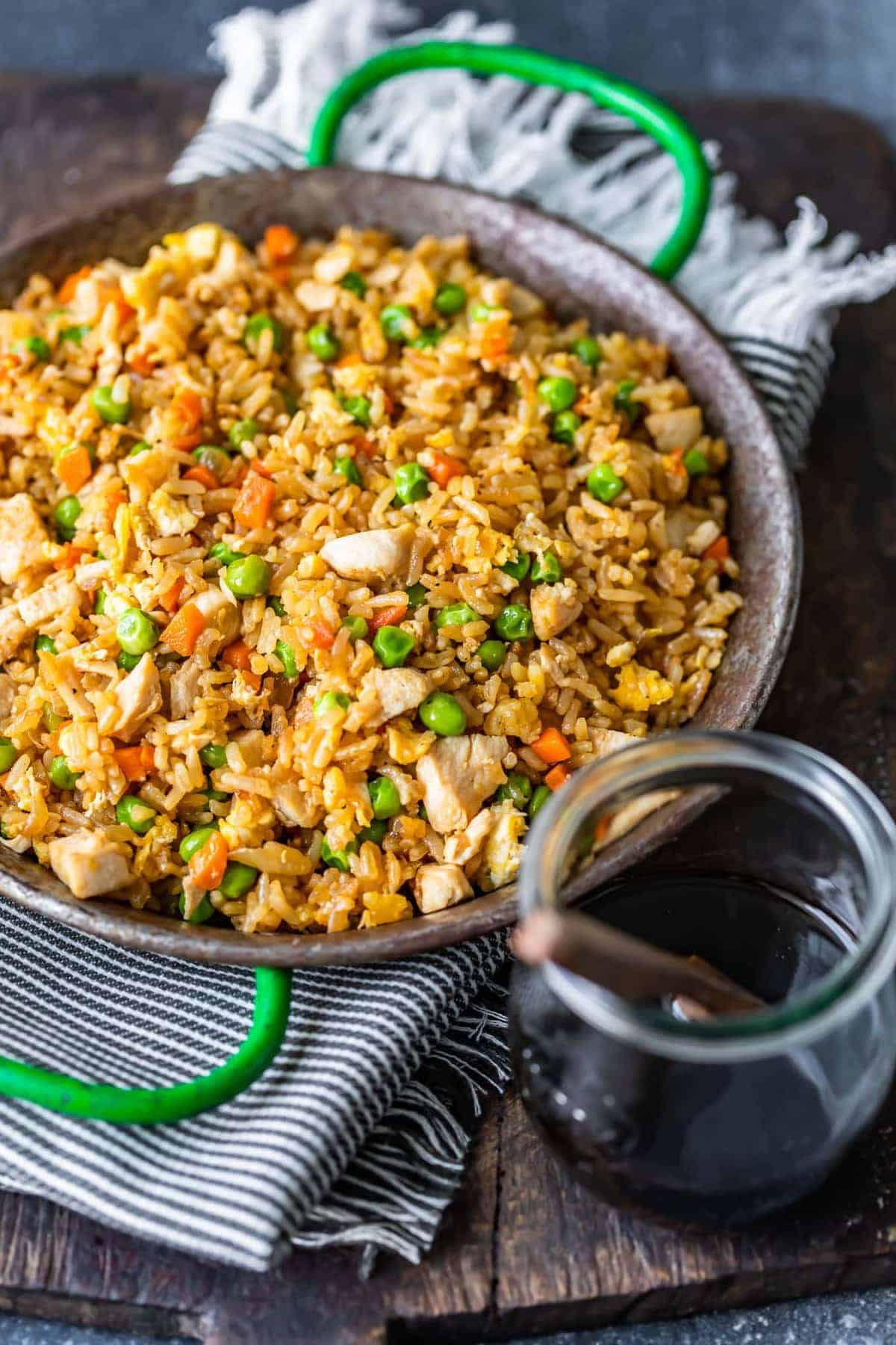 chicken fried rice with soy sauce