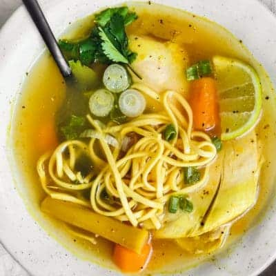 Homemade Chicken Noodle Soup is a staple at our house! This easy recipe for How to Make Chicken Noodle Soup is one you'll make again and again, warming the soul and the belly.