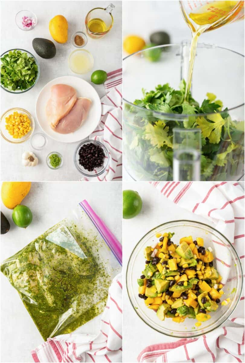 step by step photos of how to make cilantro lime grilled chicken