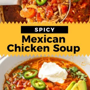 spicy mexican chicken soup pinterest collage