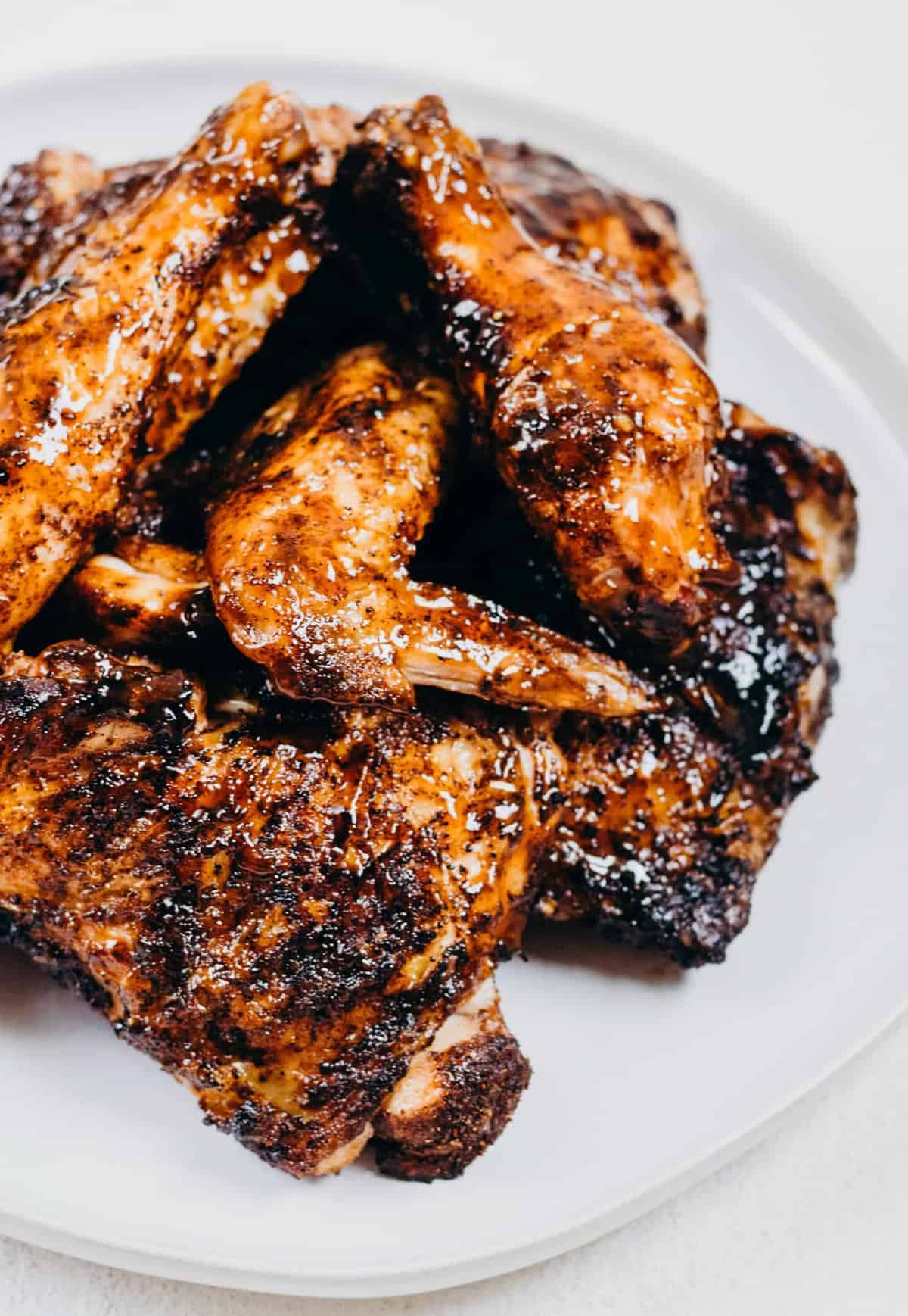Close up of grilled bbq chicken