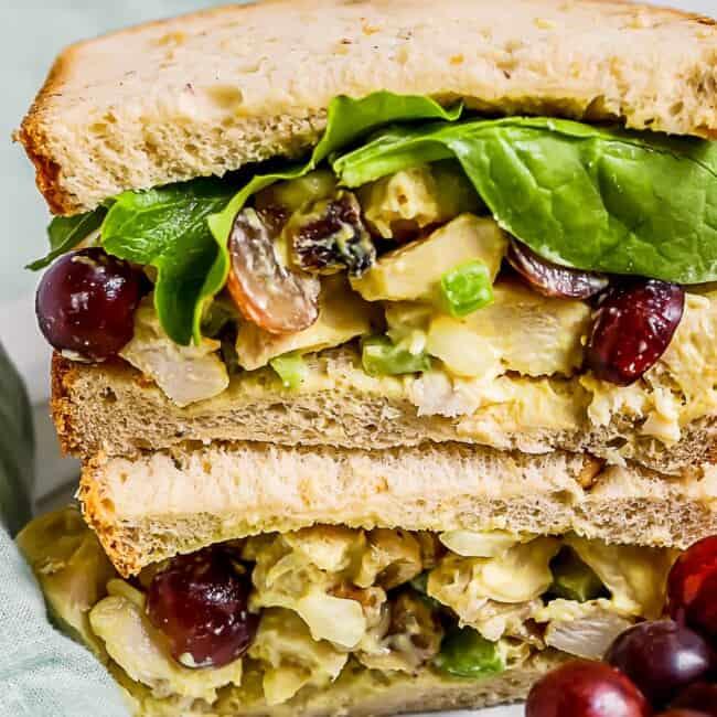 honey mustard chicken salad sandwich