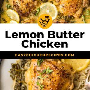 lemon butter chicken pinterest collage