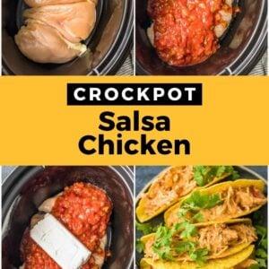 crockpot salsa chicken pinterest