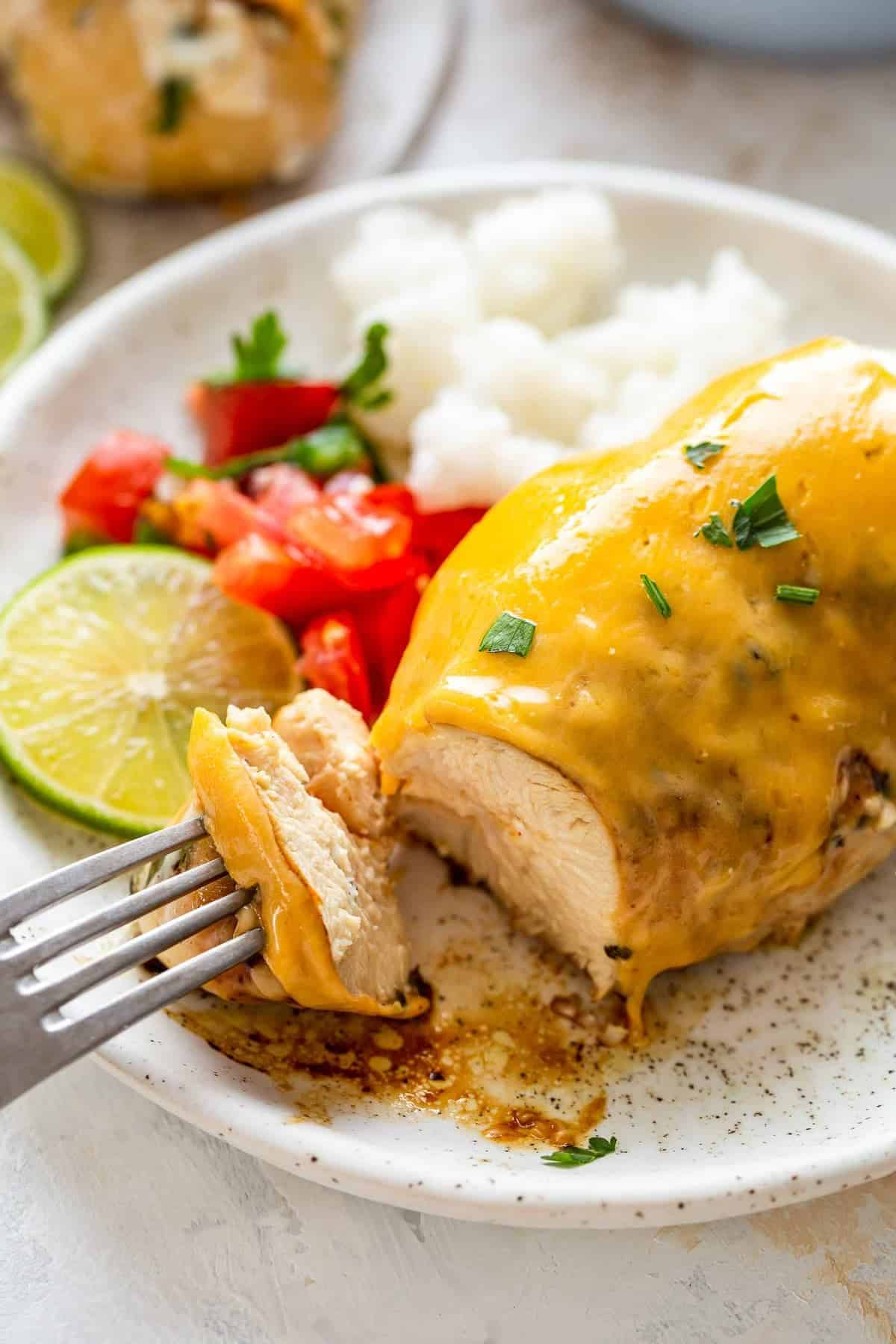 Fiesta Lime Chicken served with rice