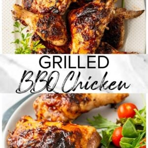 grilled bbq chicken pinterest image