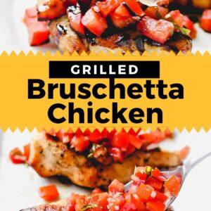 grilled bruschetta chicken pinterest collage
