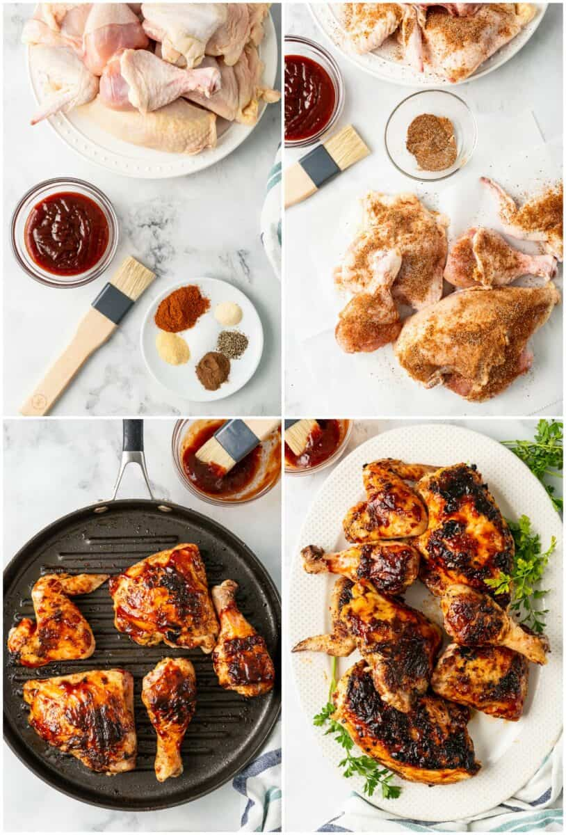 step by step photos of how to make grilled bbq chicken