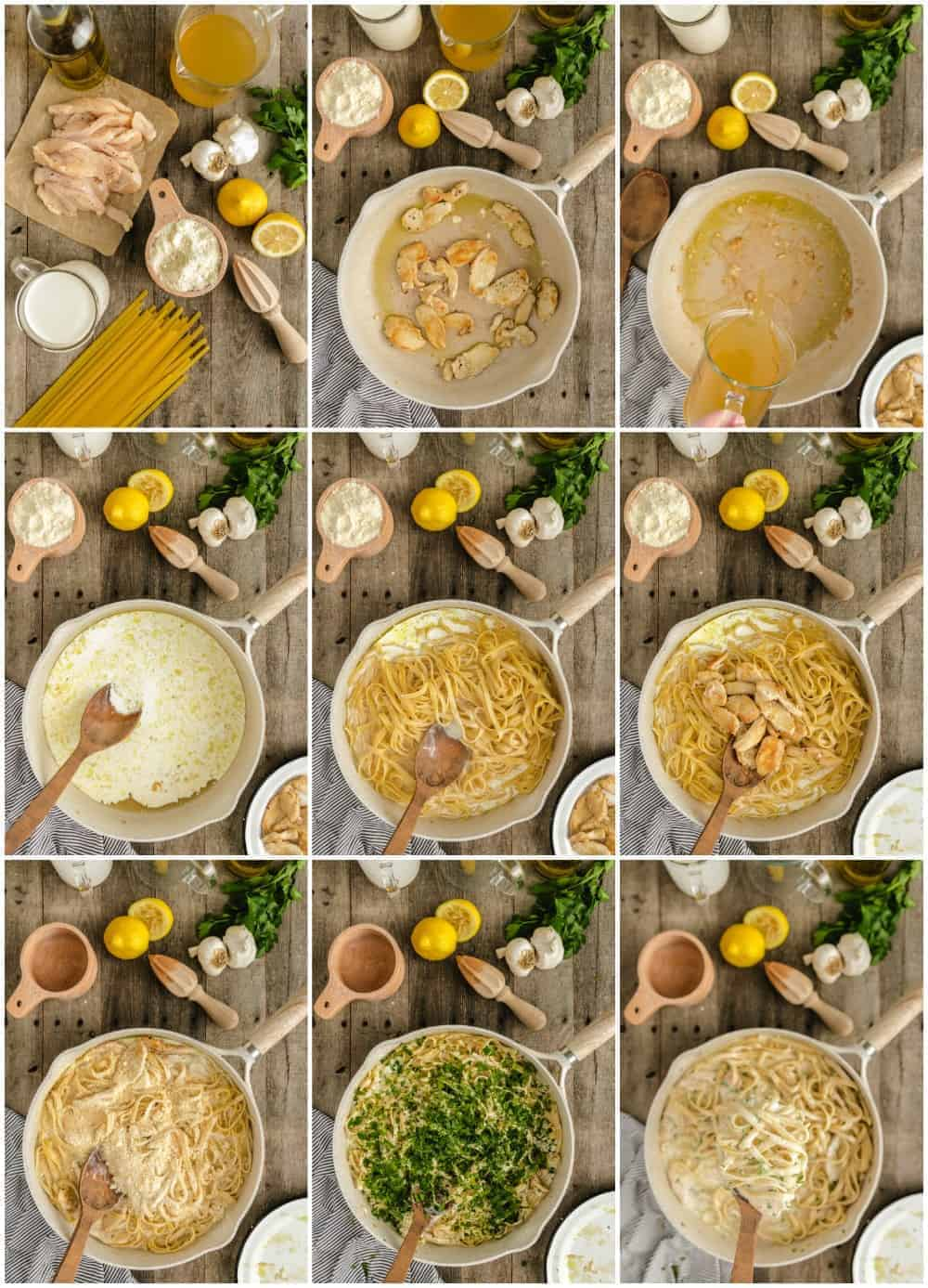 how to make chicken alfredo step by step process shots