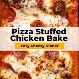 pizza stuffed chicken bake pinterest