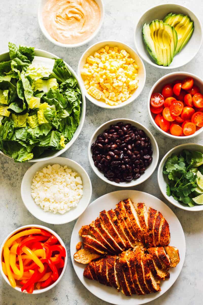 ingredients for southwest chicken salad
