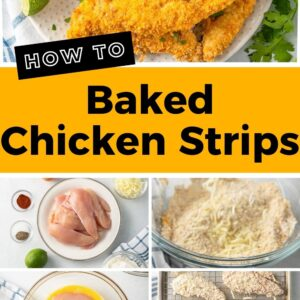 baked chicken strips pinterest