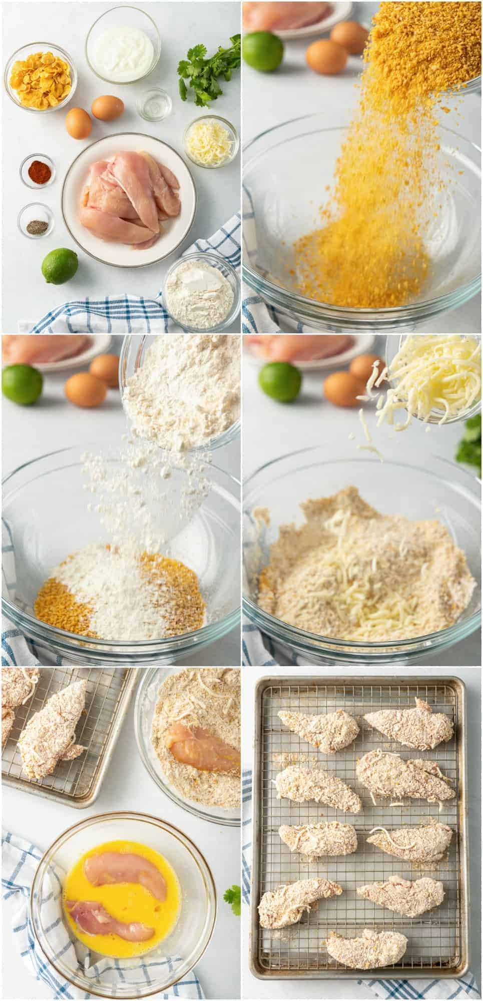 step by step photos of how to make chicken strips