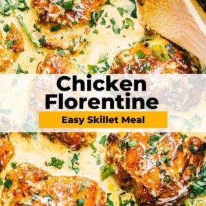 chicken florentine pinterest collage