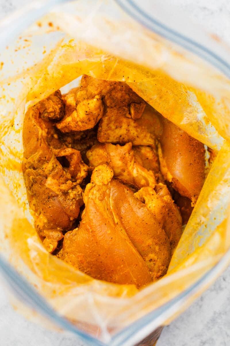marinating chicken thighs for chicken florentine