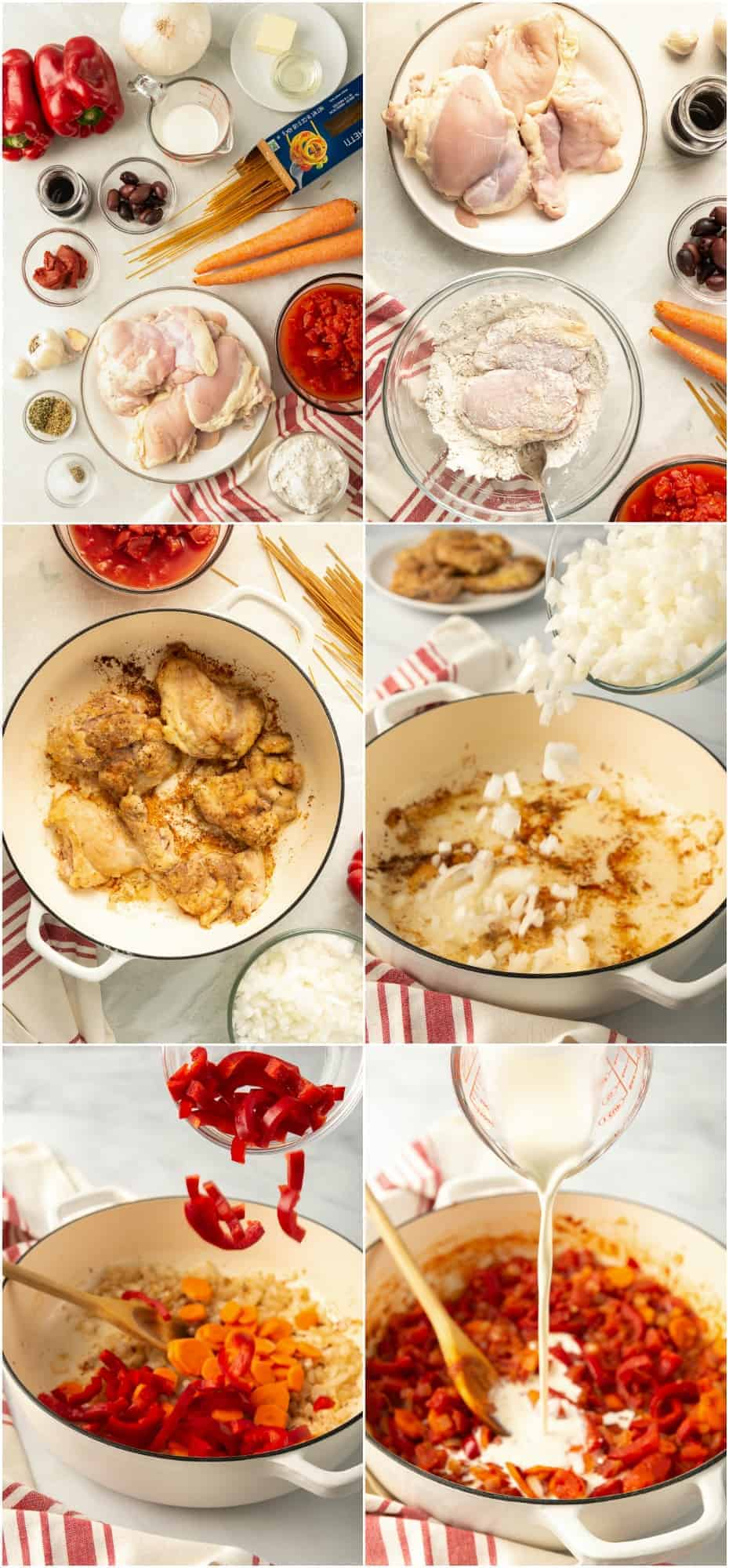 step by step photos of how to make chicken cacciatore