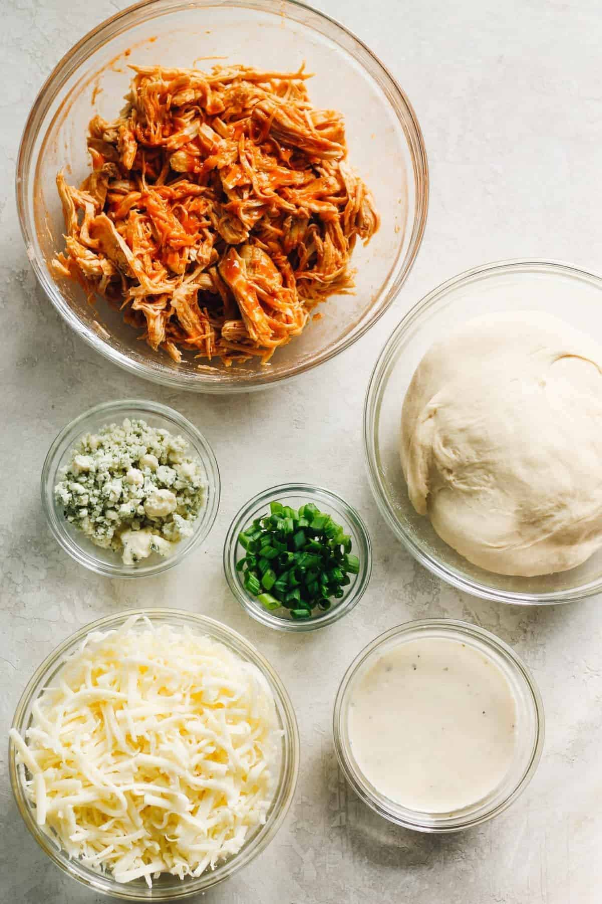 Ingredients for the pizza topping