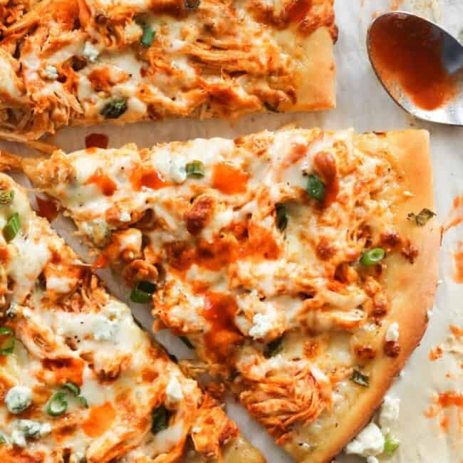 slice of buffalo chicken pizza