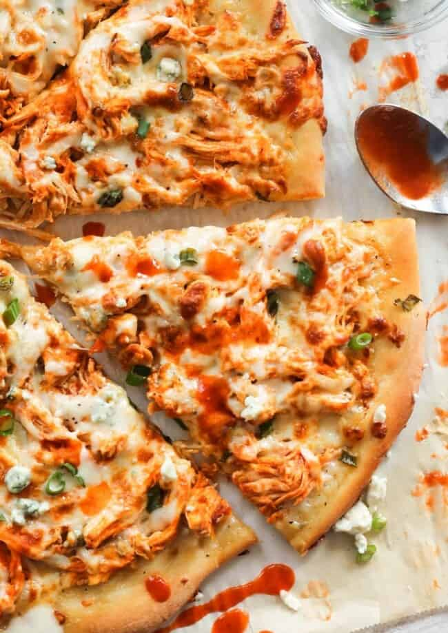 slice of buffalo chicken pizza