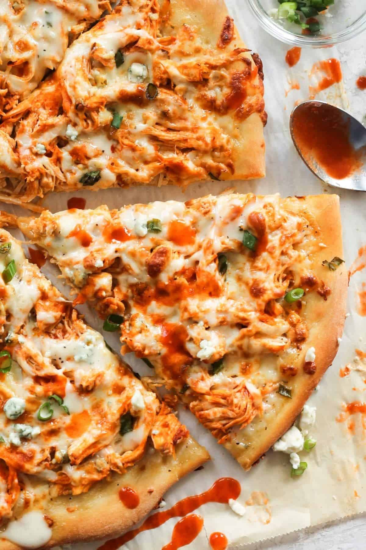 A slice of Buffalo Chicken Pizza