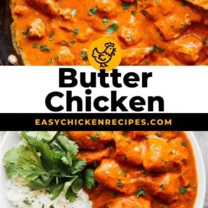 butter chicken pinterest collage