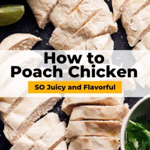 poached chicken pinterest collage
