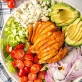 buffalo chicken salad in bowl