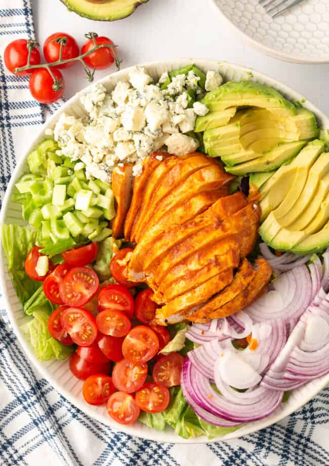 buffalo chicken salad in bowl